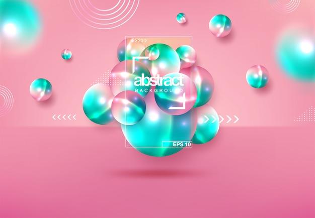 Abstrakcyjne tło z dynamiczne 3d sfer
