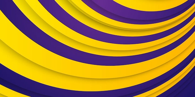 Abstrakcyjne tło z dynamicznym efektem. modne żółte i ciemnofioletowe gradienty.