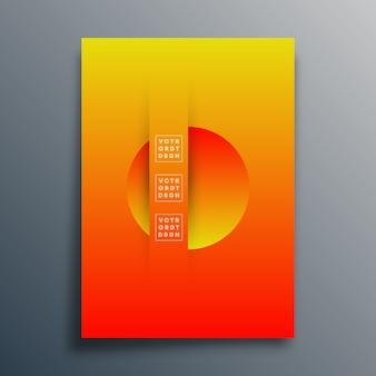 Abstrakcyjne tło z gradientem tekstury kształtów projektu dla okładki