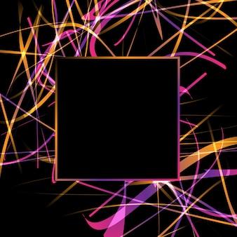 Abstrakcyjne tło z kolorowym wzorem bazgrołów