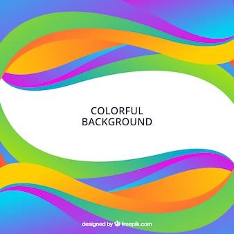 Abstrakcyjne tło z kolorowymi falami