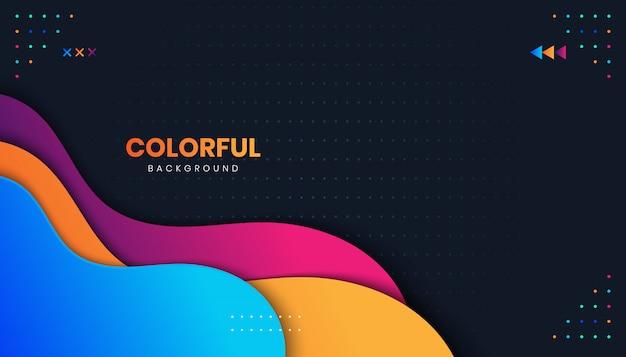 Abstrakcyjne tło z kolorowymi kształtami