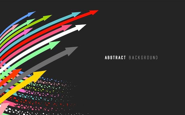 Abstrakcyjne tło z kolorowymi strzałkami