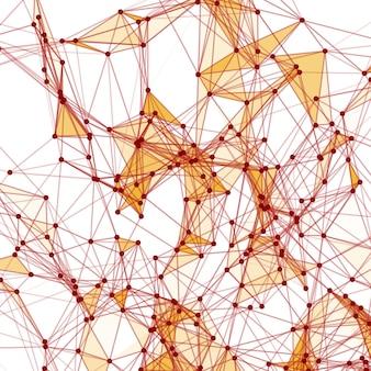Abstrakcyjne tło z kropkowaną siatką i trójkątnymi komórkami