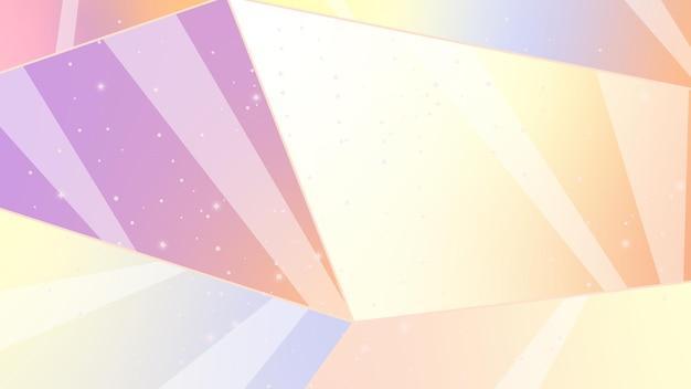Abstrakcyjne tło z liniami nocne niebo kosmiczna abstrakcja ilustracja z gwiazdami i kryształami