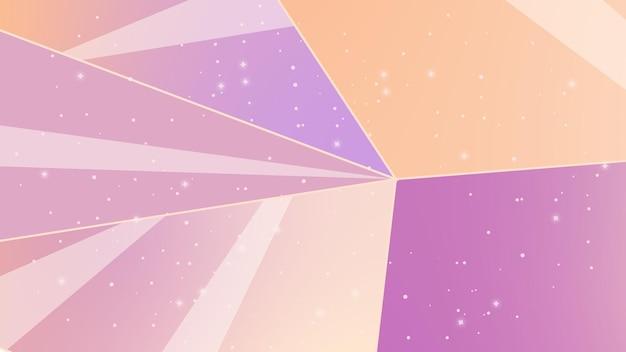 Abstrakcyjne tło z liniami nocne niebo kosmiczna abstrakcjailustracja z gwiazdami i kryształami