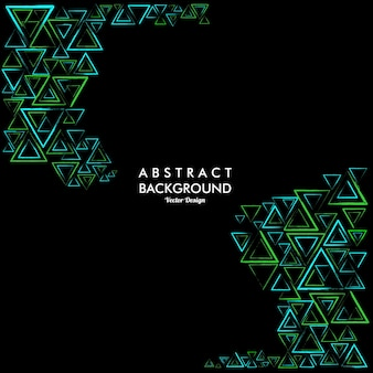 Abstrakcyjne tło z losowymi trójkątnymi liniami w kolorach zielonym i jasnoniebieskim