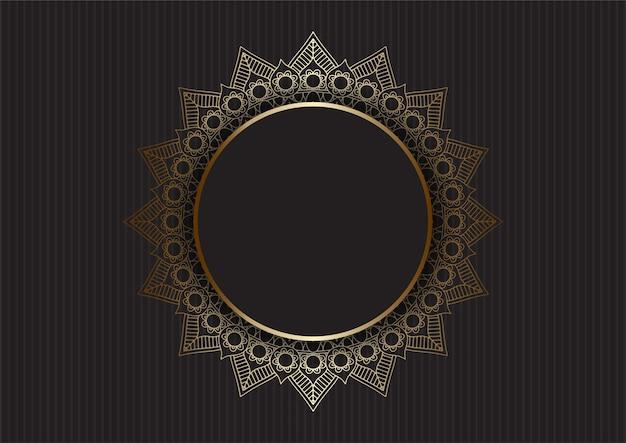 Abstrakcyjne tło z luksusowym złotym wzorem mandali