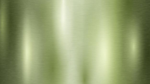 Abstrakcyjne tło z metalową teksturą w jasnozielonym kolorze