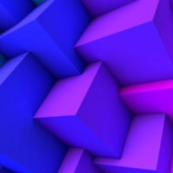 Abstrakcyjne tło z niebieskim gradientem nakładających się kostek