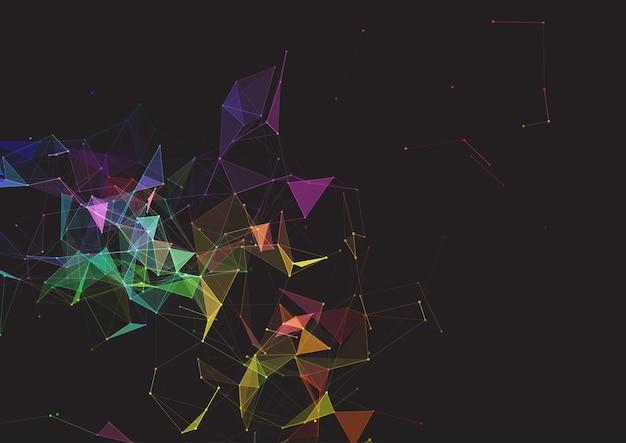 Abstrakcyjne tło z niskim splotem poli