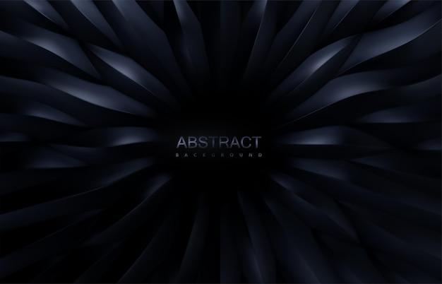 Abstrakcyjne tło z promieniowym czarnym wzorem 3d w skali