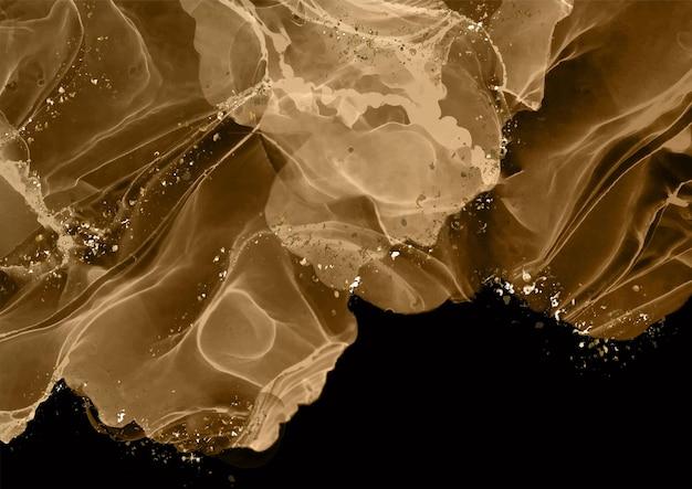 Abstrakcyjne tło z ręcznie malowanym wzorem atramentu alkoholowego