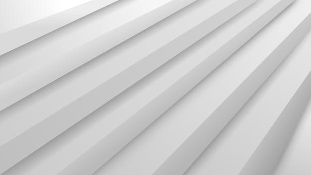 Abstrakcyjne tło ze schodami wolumetrycznymi w białych kolorach