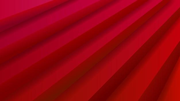 Abstrakcyjne tło ze schodami wolumetrycznymi w czerwonych kolorach