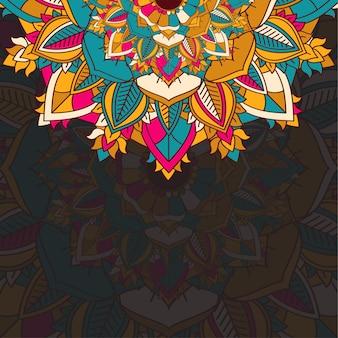 Abstrakcyjne tło ze szczegółową kolorową mandalą