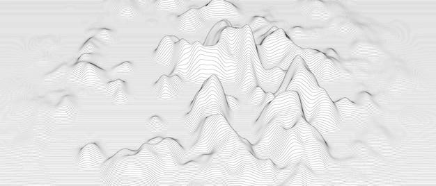 Abstrakcyjne tło ze zniekształconymi kształtami linii na białym tle