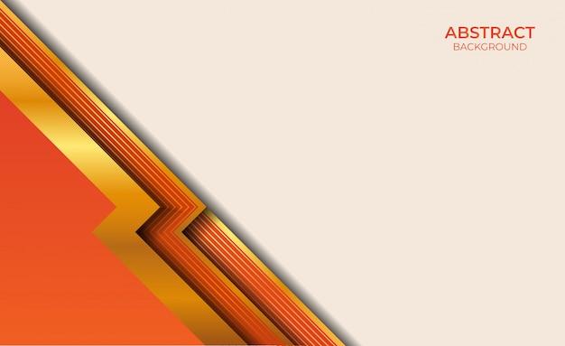 Abstrakcyjne tło złota i pomarańczowy styl
