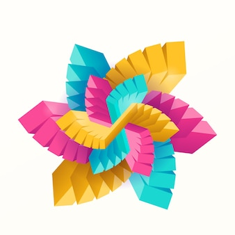 Abstrakcyjne wielobarwne geometryczne dekoracyjne prostokąty w kształcie gwiazdy