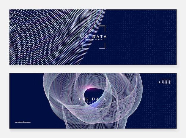 Abstrakcyjne wizualizacje techniczne. tło technologii cyfrowej. sztuczna inteligencja, głębokie uczenie i koncepcja big data dla szablonu obliczeniowego. tło wizualizacje przemysłowe streszczenie tech.