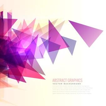 Abstrakcyjne wybuch różowy i fioletowy kształcie trójkątów