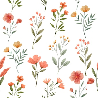 Abstrakcyjne wzory akwareli w stylu kwiatowym