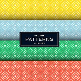 Abstrakcyjne wzory geometryczne w czterech kolorach