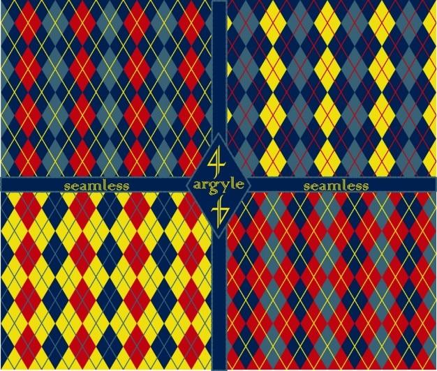 Abstrakcyjne wzory komplet wykonany z argyles