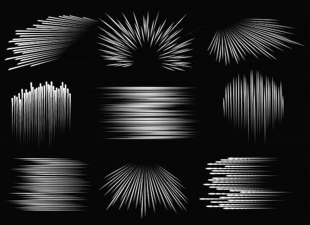 Abstrakcyjne wzory linii prędkości