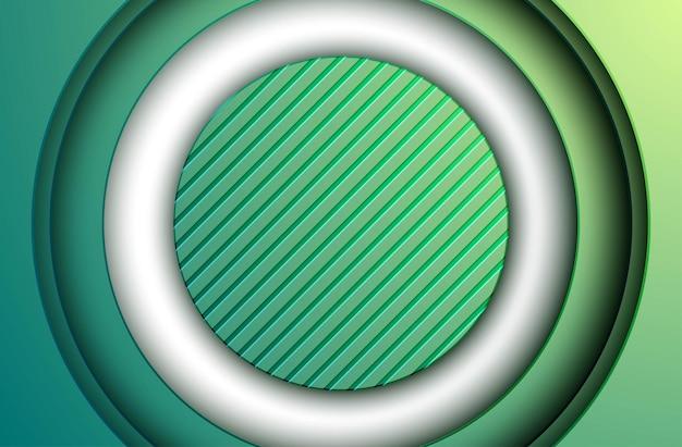 Abstrakcyjne zielone kolorowe gradientowe warstwy wymiaru okręgu teksturowane tło