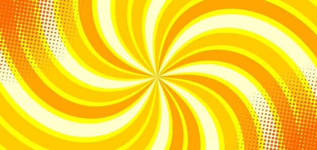 Abstrakcyjne żółte tło komiksu zoom