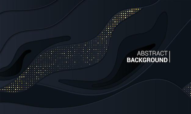 Abstrakcyjny baner z 3d czarnym tłem