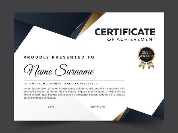 Abstrakcyjny certyfikat premium osiągnięć