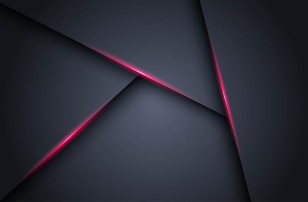 Abstrakcyjny ciemny z różową linią światła cień trójkąt pusta przestrzeń warstw tła