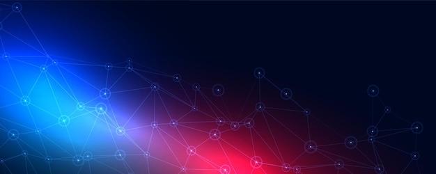 Abstrakcyjny cyfrowy baner z drucianą siatką