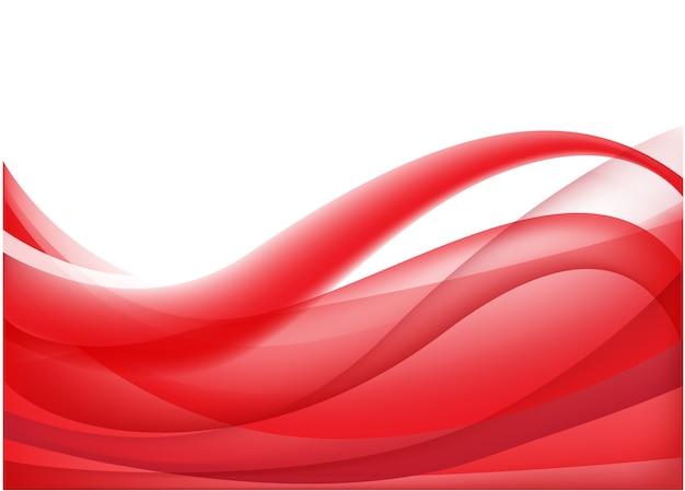 Abstrakcyjny czerwony falisty przepływ jedwabiu tło, tapeta