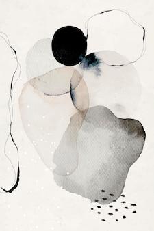 Abstrakcyjny druk artystyczny w kręgach akwarela