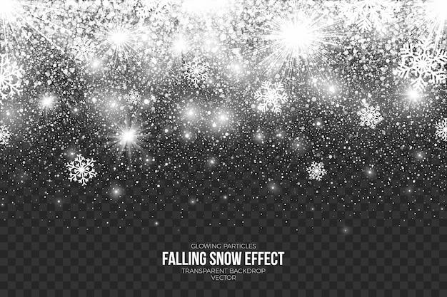 Abstrakcyjny efekt padającego śniegu przezroczysty