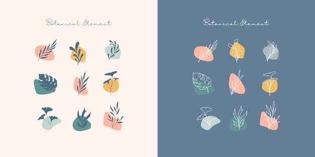 Abstrakcyjny element botaniczny