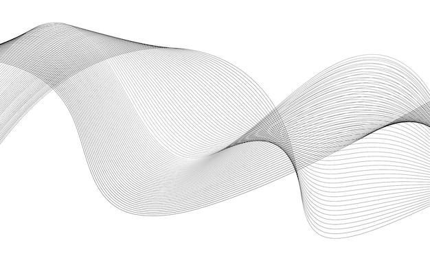 Abstrakcyjny element fali fala z liniami utworzonymi za pomocą narzędzia mieszania
