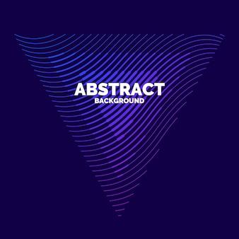 Abstrakcyjny element wektora z dynamicznymi falami. ilustracja odpowiednia do projektowania