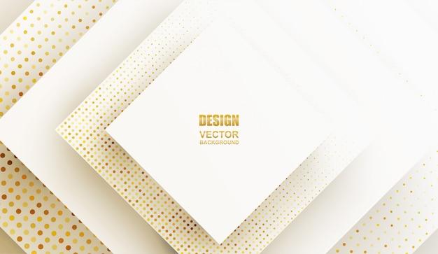 Abstrakcyjny. geometryczny kształt biało złote tło. światło i cień .
