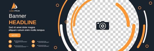 Abstrakcyjny geometryczny styl poziomy baner, okładka mediów społecznościowych, broszura, szablon projektu kuponu wektor