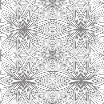 Abstrakcyjny geometryczny wzór kwiatowy w kolorze szarym