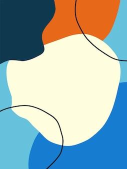 Abstrakcyjny. kolorowe elementy pędzla sztuki kształtują tło.