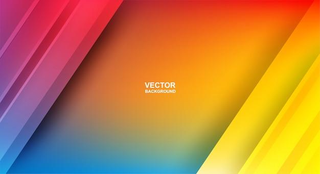 Abstrakcyjny. kolorowy geometryczny kształt nakładają się tło. światło i cień.