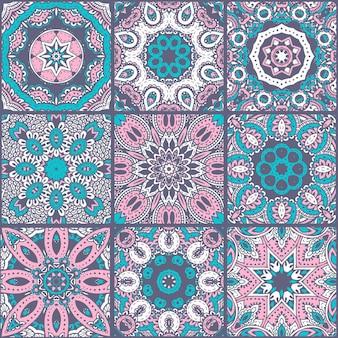 Abstrakcyjny kolorowy patchworkowy wzór, etniczne ozdoby., arabskie, indyjskie motywy