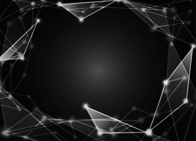 Abstrakcyjny. komunikacja lub technologia, tło naukowe
