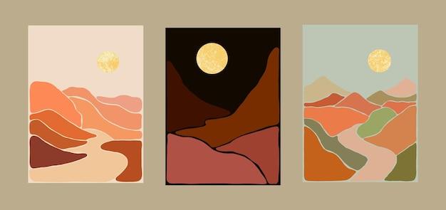 Abstrakcyjny krajobraz artystyczny artystycznej cyganerii