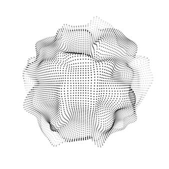 Abstrakcyjny kształt 3d